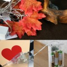 Battery Operated Autumn Maple Leaves String Light