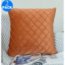 2 X 45cm x 45cm Checkered pillowcase