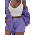 Winter Plush Casual 3 Pieces Pajamas Set