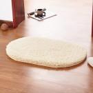 40*60cm Berber Fleece Fashion Color Oval Floor Mats