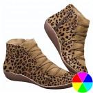 Women Leopard Print Ankle Boots