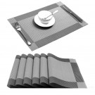 4X Woven Vinyl Non-slip Insulation Placemats