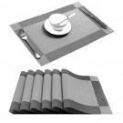8X Woven Vinyl Non-slip Insulation Placemats