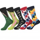5 Pairs of Cartoon Series Men and Women Socks