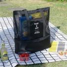 2X Double-Deck Beach Cooler Bag Black