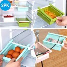 2Pack Fridge Organisers Pink and Green Colour