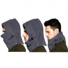 2 Pack Unisex Winter Windproof Hats Black and Dark Grey