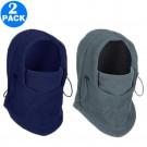 2 Pack Unisex Winter Windproof Hats Dark Grey and Navy