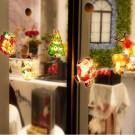 Santa Claus Elk Fairy Lights 3D Window Hanging Lamp Decorative LED Lights
