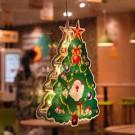 Xmas Tree Fairy Lights 3D Window Hanging Lamp Decorative LED Lights