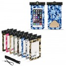 2 X Waterproof Camouflage Phone Case with Compass Random Colour