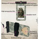 2 X Waterproof Camouflage Phone Cases with Compass Blue and Grey