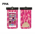 2 X Waterproof Camouflage Phone Cases with Compass Blue and Pink