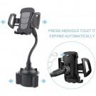 Adjustable Car Cup Holder Mount Gooseneck Phone Holder Bottle Rack Phone Stand