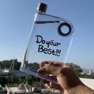 A5 Paper Size 380ML Flat Water Bottle