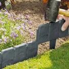 10 Pieces Imitation Stone Garden Fence Garden Edging Garden Border Decorative