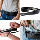 2 Pack Unisex Travel Security Hidden Pocket Belts Black and Army Green