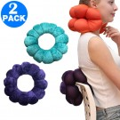 2 Pack Adjustable Multifunction Pillows for Neck and Lumbar Supports Purple and Blue