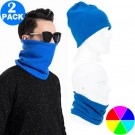 2 X Unisex Multifunctional Neck Warmers Same Colour