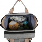 Foldable Large Capacity Mommy Backpack Diaper Bag with Baby Bed Grey