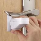 2 X Child Proof Door Lever Lock Self Adhesive Safety Door Handle Lock