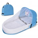 Blue Nappy Bag Baby Nappy Diaper Changing Mat Portable Nappy Changing Mat with Mosquito Net