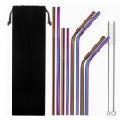 Stainless Steel Straws Set Multi-color