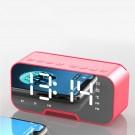 Multifunctional Mirror Clock Bluetooth Speaker FM Radio Desktop Phone Stand