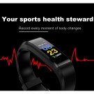 20 In 1 115plus Smart Fitness Tracker Bands Water Resistant Sport Watch Bluetooth Smart Touch Wristband Health Monitoring Bracelet Blue