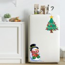 2Sets Snowman Wall Sticker Self-Adhesive Sticker