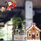 2Sets Santa Claus Wall Sticker Self-Adhesive Sticker