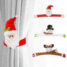 2Pcs Snowman Christmas Curtain Buckles
