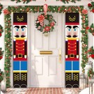 2pcs Christmas Knight Flags Curtain Ornaments Door Hanging Flags