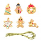 1Set 6pcs Gingerbread Man Christmas Tree Hanging Pendants