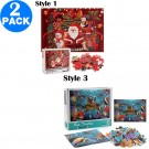 2 Pack 1000PCS Christmas Puzzles Style 1 Style 3