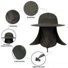 Unisex Fishing Cap Flap Hat Outdoor Sun Protection Hat Wide Brim Flap Cover Hat Breathable Summer Hat