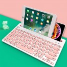 Pink Wireless Bluetooth Keyboard Cordless Bluetooth Keyboard for Tablet Cellphone and Computer
