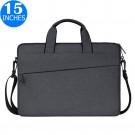 15 Inches Handheld Laptop Bag Portable Lightweight Shoulder Bag Shock Absorption Handbag Dark Grey