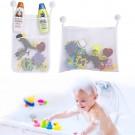 Kids Baby Bath Toy Hanging Organizer Anti-Slip Sucker Storage Bag Toy Mesh Holder Shower Bathroom Organizer