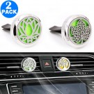 2 X Aromatherapy Essential Oil Car Vent Diffuser with One Felt Pad Set 4