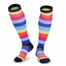 3 Pairs of Colourful Large Size Style 1 2 3 Womens Knee Length Compression Socks