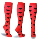 6 Pairs of Large Size Womens Knee Length Compression Socks Style 4 5 6 7 8 9