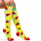 3 Pairs of Large Size Style 1 2 3 Womens Knee Length Compression Socks