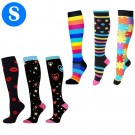 6 Pairs of Small Size Womens Knee Length Compression Socks Style 1 2 3 4 5 6