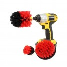 Set of 3PCS Universal Drill Power Brushes and Sponge Red