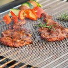 3 Pieces Reusable BBQ Grill Mesh Mats Set Beige