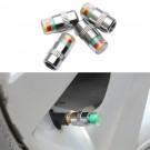 4PCS Tyre Pressure Valve Caps with Indicators