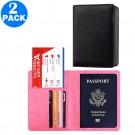 2 X RFID Blocking Travel Passport Holders Pink and Black