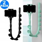 2 X Worm Design Phone Holders Black and Light Green