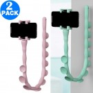 2 X Worm Design Phone Holders Pink and Light Green